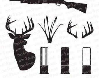 Redneck SVG - Country SVG - Hunting SVG - Antler  Deer  Bullets  Hillbilly  Redneck Dxf - Hunting Dxf