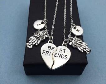 925 Sterling silver, Best Friends Necklaces - Set of Two Friendship Necklaces,bff, Bff Charm, Best Friend,Friend Gift, Best Friend Jewelry