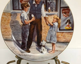 Dairy Queen Collection Plate Limited Edition 1990 Fifty Years Of Treating You Right!  Plate no. 1658