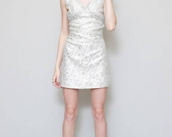 Vintage 1960's Premium Silver Baroque Mini Dress