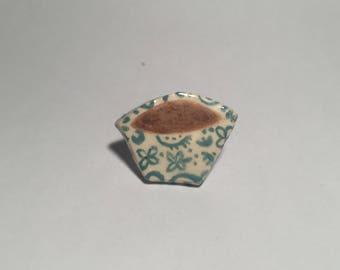 Bowl of Porridge Ceramic Pin