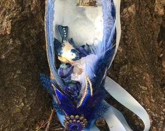 Bluebird Decorated Pointe Shoe (Sleeping Beauty)