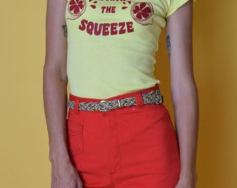 """Shirt Party """"Squeeze 'Em"""" Vintage Inspired Graphic Tee"""