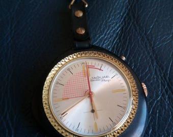 SSWISS JAGUAR MEMOSTOP Watch, Swiss Jaguar MemoStop Pocket Watch Key Holder, Swiss Stop Watch Chronometre, Swiss Jaguar Chronometre Watch