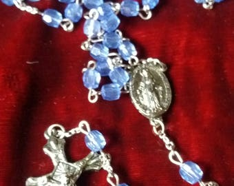 Pretty blue vintage rosary beads