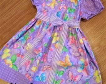 Glittery Butterfly Dress Sz 3 - Party Dress, toddler dress, Summer dress, Girls dress, Little girls dress, Birthday dress