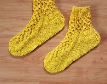 Hand-knitted socks - size 38/39