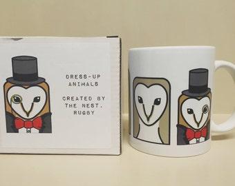 Dress Up Animals Mug - Owl