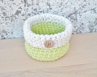 Gift basket for her, crochet basket, miniature basket, small basket, cute basket, storage basket, housewarming gift, home decorations, decor