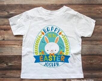 Boys Easter Shirt - Toddler Boy Easter Shirt - Toddler Easter Shirt - Baby Boy Easter Shirt - easter bunny shirt - easter monogram shirt