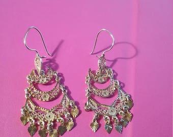 18kt Gorgeous Chandelier Earrings