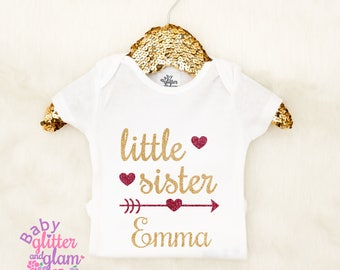 Little Sister Shirt, Big Sister Little Sister, Big Sis Little Sis, Baby Girl Sister Outfit, Siblings Shirt