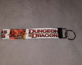 Dungeons and Dragons Wristlet Keychain
