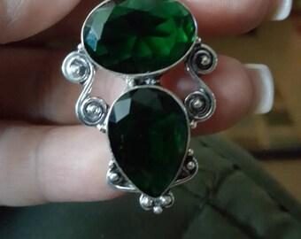 Emerald Green Quartz Pendant !