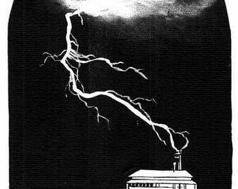 Storm ilustration painting