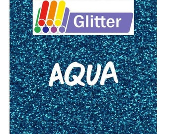 Siser Glitter Heat Transfer Vinyl - Iron On - HTV - Aqua