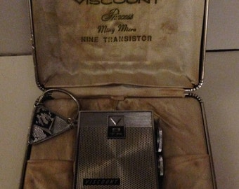 Vintage Viscount Mini Nine Transistor AM radio