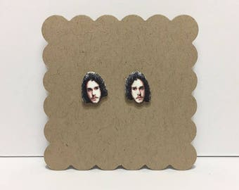 "Jon Snow | ""Game of Thrones"" Stud Earrings"
