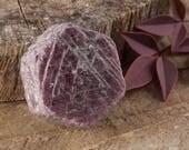 One Raw RUBY Crystal - S, M, L or XL - Raw Corundum Ruby, Record Keeper, Natural Ruby Stone, Hexagon Stone, Ruby Crystal, Root Chakra E0063