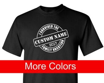 Custom Family Vacation Shirt, Personalized Family Reunion Shirt, I Survived Family Vacation, Custom Family Shirt, Cruise Shirt, Disney Shirt
