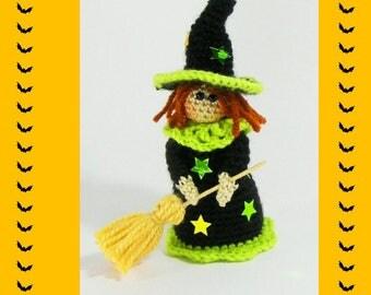 Halloween witch pattern, crochet witch, crochet witch for Halloween, DIY Halloween decor, crochet pattern, witch pattern,  Halloween pattern