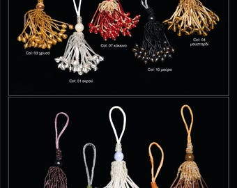 Tassel With Beads and Crystals.Various Colors for jewelry and home decor!