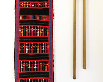 Brightly Colored Vintage Woven Ethnic Textile Wall Hanging