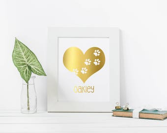 Gold Foil Print, Dog lover gift, Gift for animal lover, Animal lover gift, Gift for dog mom, Gift for dog lover, Gift for dog owner, Animal