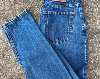 Levis 90s Jeans, Made in USA, high waist Levis,  550 jeans, size 30 waist, Denim Jeans Levis, 90s mom jeans, boyfriend jeans,
