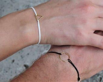 Friendship bracelets gold couple bracelet relationship bracelets geometric bracelets couple gift for boyfriend couples jewelry wedding gift