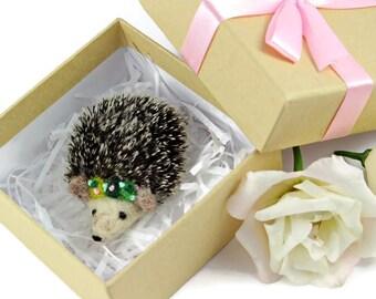 Hedgehog Brooch, Needle Felted Hedgehog, Hedgehog Charity Brooch, Hedgehog Jewellery, Hedgehog Badge, Hedgehog Pin, Hedgehog Lovers