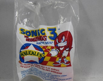 Sonic The Hedgehog 3 Knuckles Vintage McDonald's Happy Meal Toy Figurine New Sealed Unopened