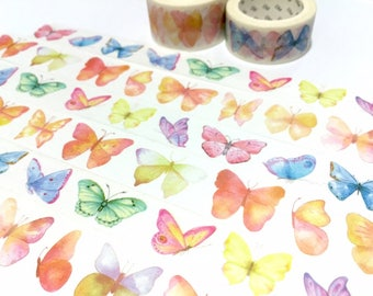 Butterfly washi tape 7M x 2cm dancing butterfly sticker tape rare butterfly colorful butterfly collection masking tape butterfly decor gift