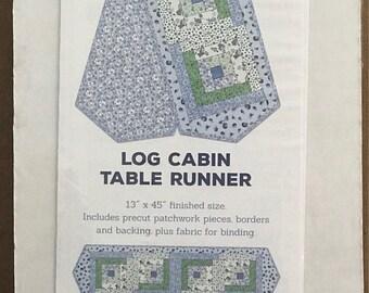 Log Cabin Table Runner Quilt Kit