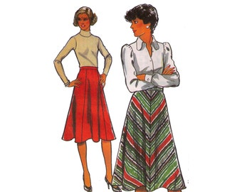 Style 2394, 70s sewing pattern, size 12 waist 26 women's flared skirt pattern, a line skirt, maxi skirt pattern