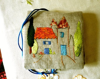 Hand embroidered textile Jewelry Kit