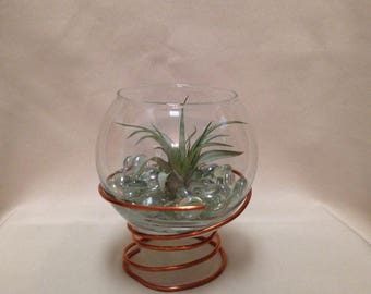 Terrarium with Stand / Candle Holder with Stand / Copper Terrarium / Air Plant Terrarium / Succulent Terrarium / Modern Terrarium
