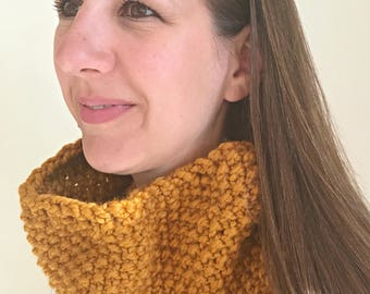 Cowl Neckwarmer, Knit Chunky Cowl, Tube Scarf, Circle Knit Scarf, Circle Chunky Scarf, Cowl Chunky Infinity, Chunky Womens Scarf, Knitted