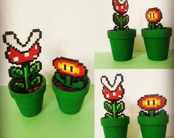 Mario perler flowers