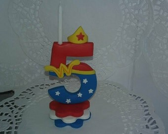 wonder woman candle number