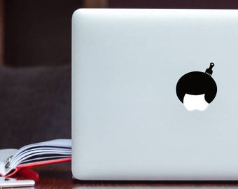 Afro hair / hairstyle MacBook Decal glowing Apple Decal / Laptop Decal / iPad Decal vinyl sticker