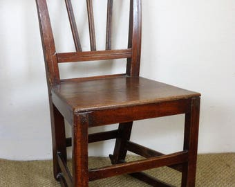 18th Century Fruitwood Nursing Chair on Rockers with Elm Seat, Early Country Chair, Collect or Arrange Delivery!