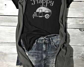 Happy Camper Shirt - Best Selling Item - Camping Shirt - Camp Shirt - Camping Clothes - Funny Camping Shirt - Tank Tops