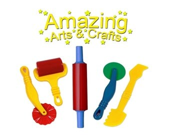 Play Dough Tools Set For Kids Set Of 5 Pastry Clay Pizza Doh Toys