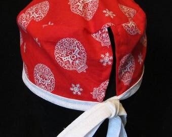 Red Scrub Santa Hat