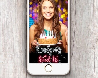 Sweet 16 snapchat filter - Sweet 16 geofilter - 16th birthday snap filter - sweet 16 snap chat filter - sweet 16 birthday snap filter
