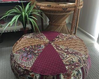 Unfilled 24 Inch Diameter Bohemian Chic Pouffe Cover, Made in Australia Meditation Cushion, Bohemian, Boho Pouf, Floor Cushion Moroccan Pouf