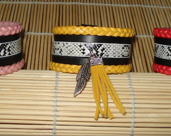 cuff ethnic spirit and faux leather