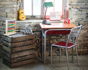 School desk and Bistro Chair.