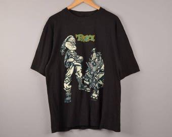 warner bros., taz sweatshirt, tasmanian devil, sweatshirt, cartoons crewneck, bugs bunny, looney tunes, rock tee, black tee, oversized tee